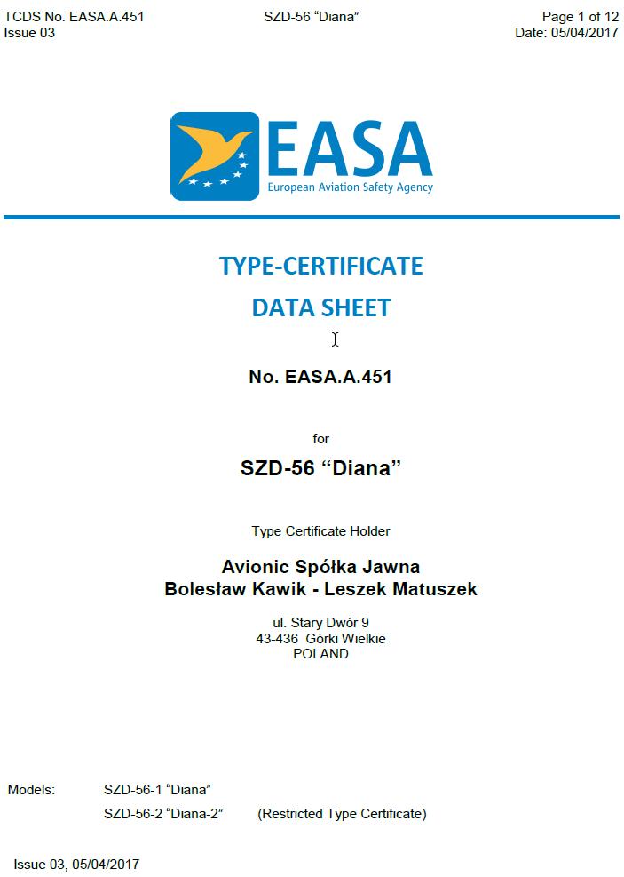EASA-Type-Certificate-Diana-2